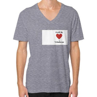 V-Neck (on man) Tri-Blend Grey Indiodyssey