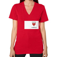 V-Neck (on woman) Red Indiodyssey