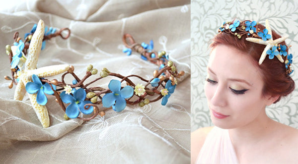 Starfish Blue Flower Crown