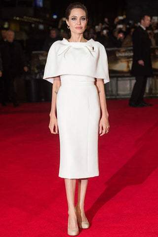 Angelina Jolie White Outfit 2015