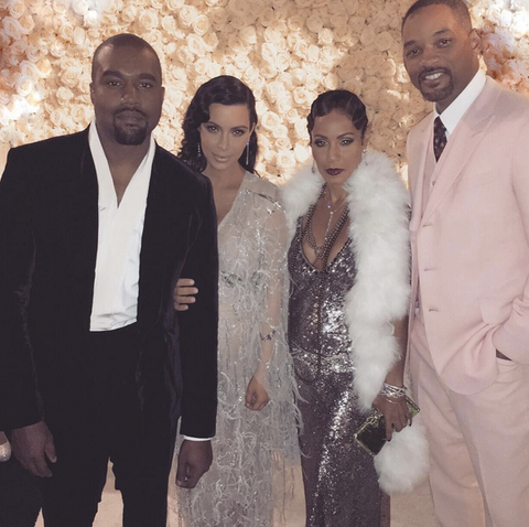 Kanye West, Kim Kardashian, Will Smith, and Jada Smith's Outfits To Kris Jenner's 60th Birthday Party
