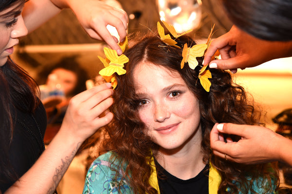 NY Fashion Week Snapchat Butterfly Crown Filter Preparation