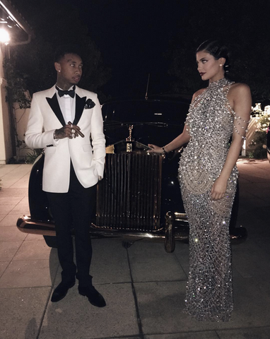 Kylie Jenner and Tyga's Outfits To Kris Jenner's 60th Birthday