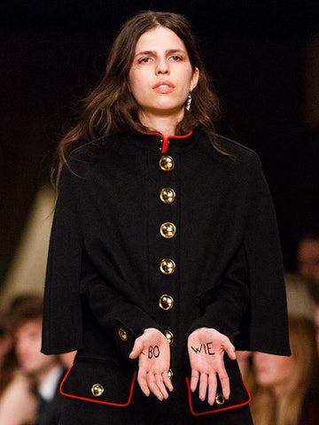 David Bowie Written On Burberry Model's Hands
