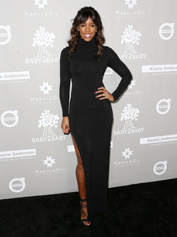 Kelly Rowland Black Dress Outfit