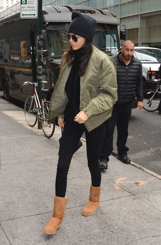 Kendall Jenner Wearing Brown UGG's