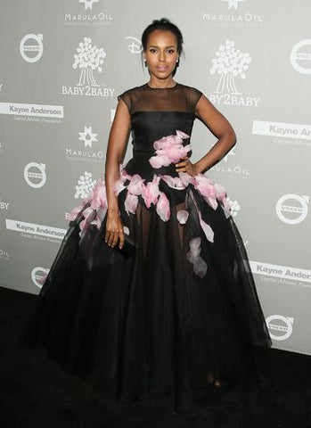 Kerry Washington Black Dress Outfit
