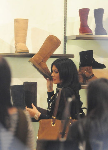Kendall Jenner Picking Out a Pair of UGG's