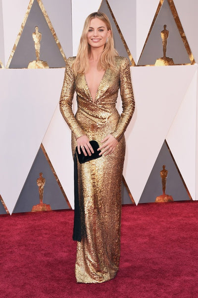 Margot Robbie Gold Dress - Oscars Outfit