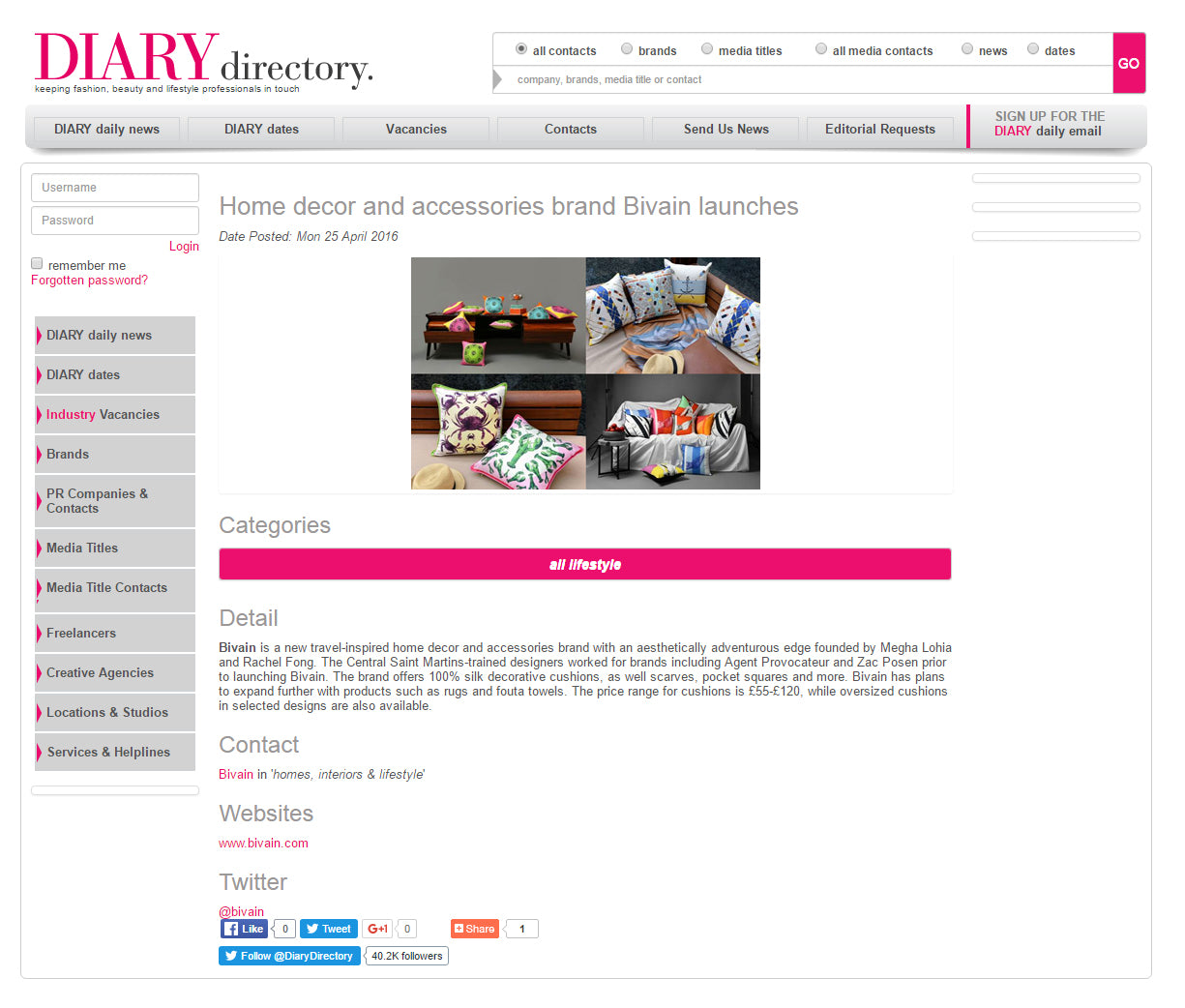 Bivain Diary Directory