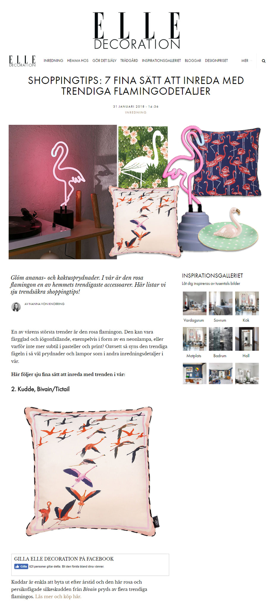 Bivain in Elle Decoration Sweden