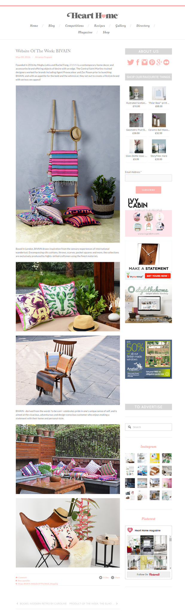 Bivain Heart Home mag