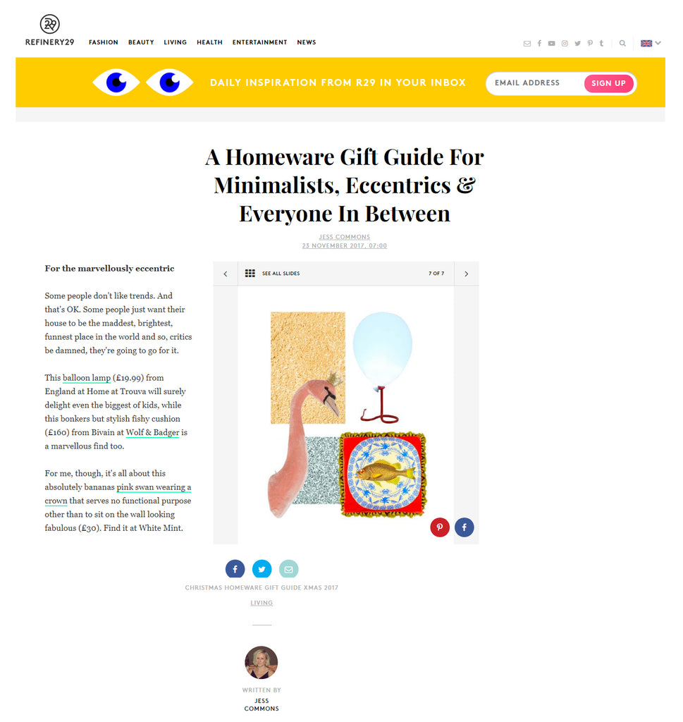 Bivain Hedon cushion on Refinery29.co.uk