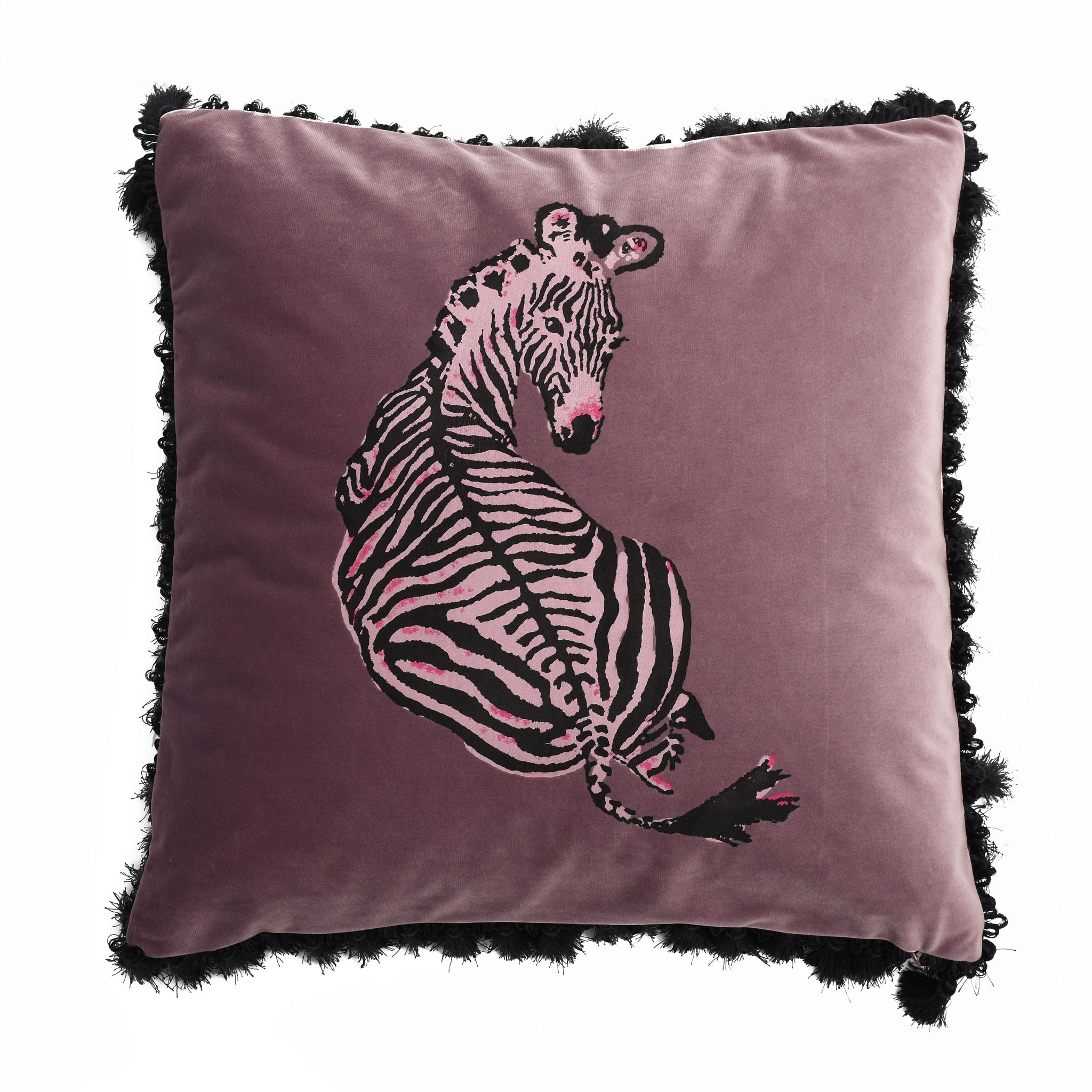 Zebrano Velvet Cushion