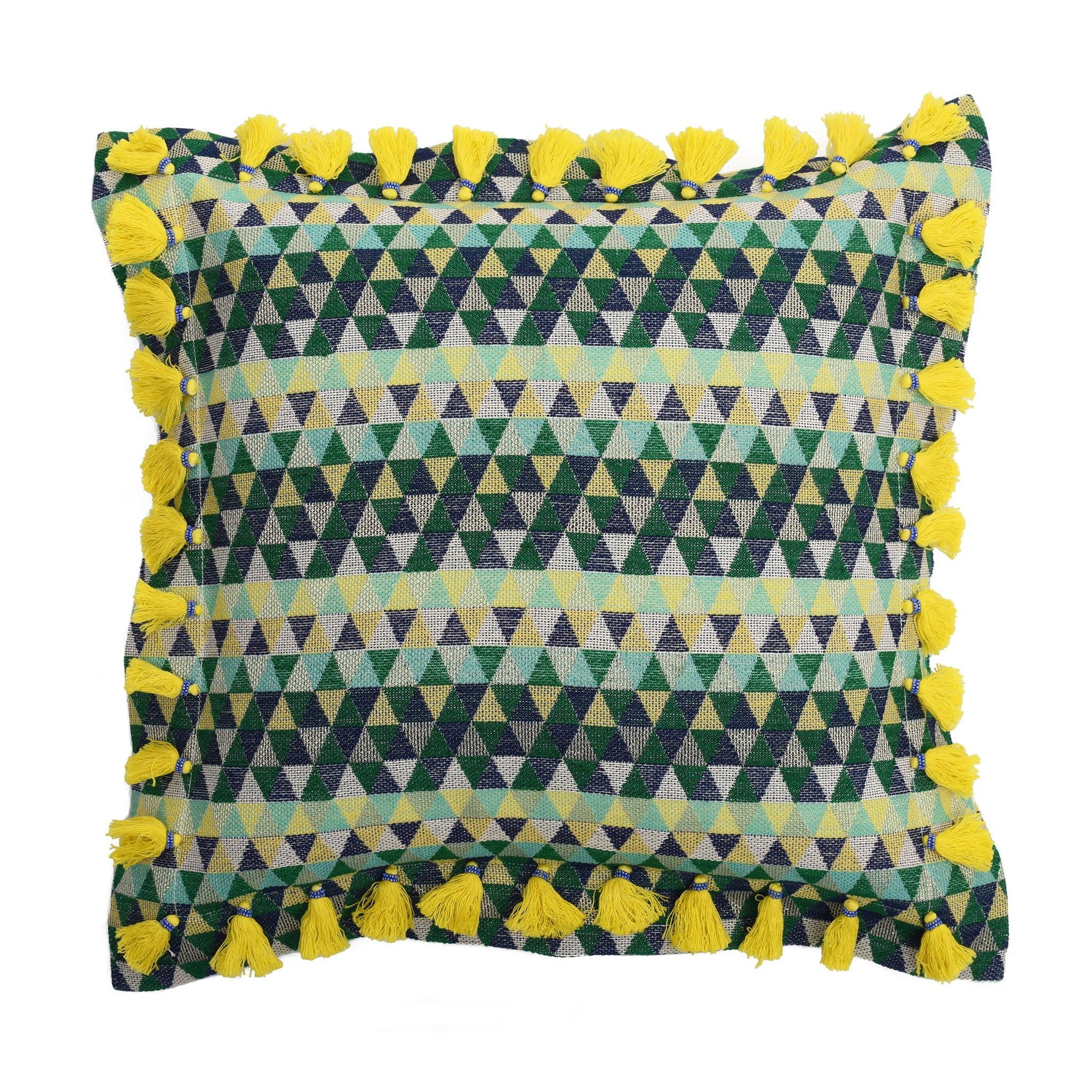 Bedawi Chartreuse Cotton Cushion