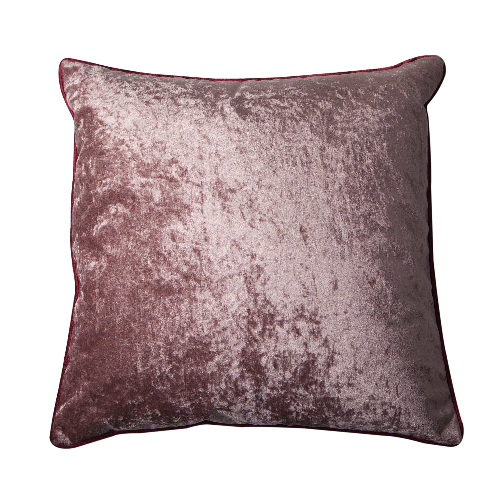 Berry & Rose Taupe Velvet Cushion