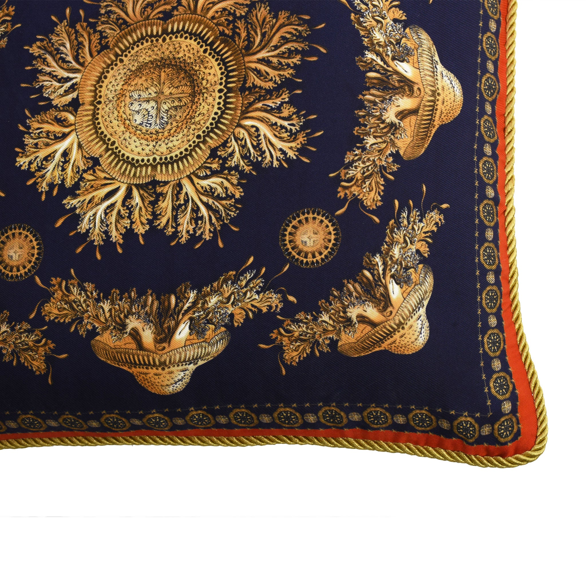 Neptunian Blue Silk Cushion