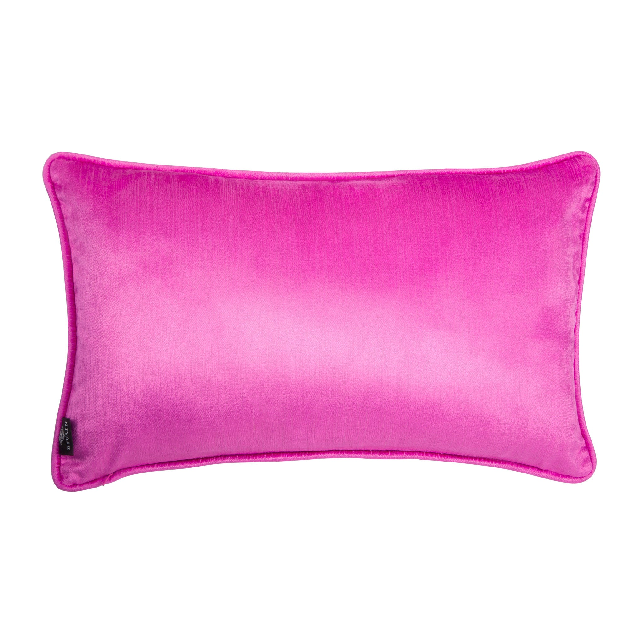 Silk twill and velvet lilac Japanese print cushion - Bivain - 3