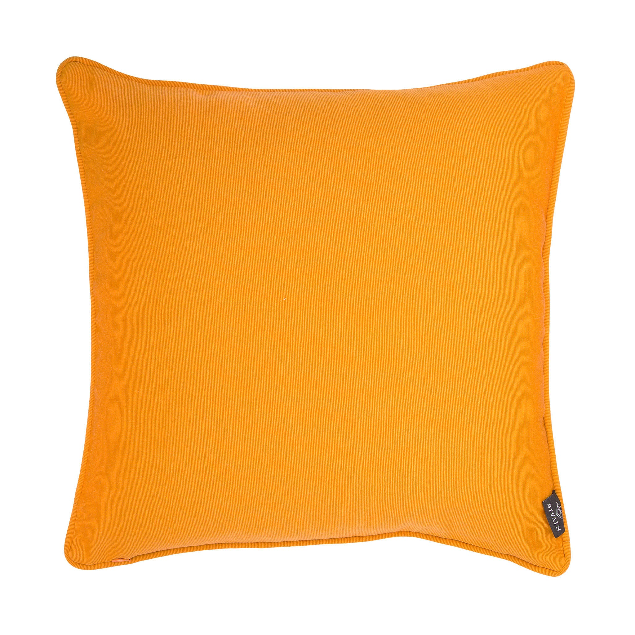 Cotton orange & pink reclining nude print cushion - Bivain - 3