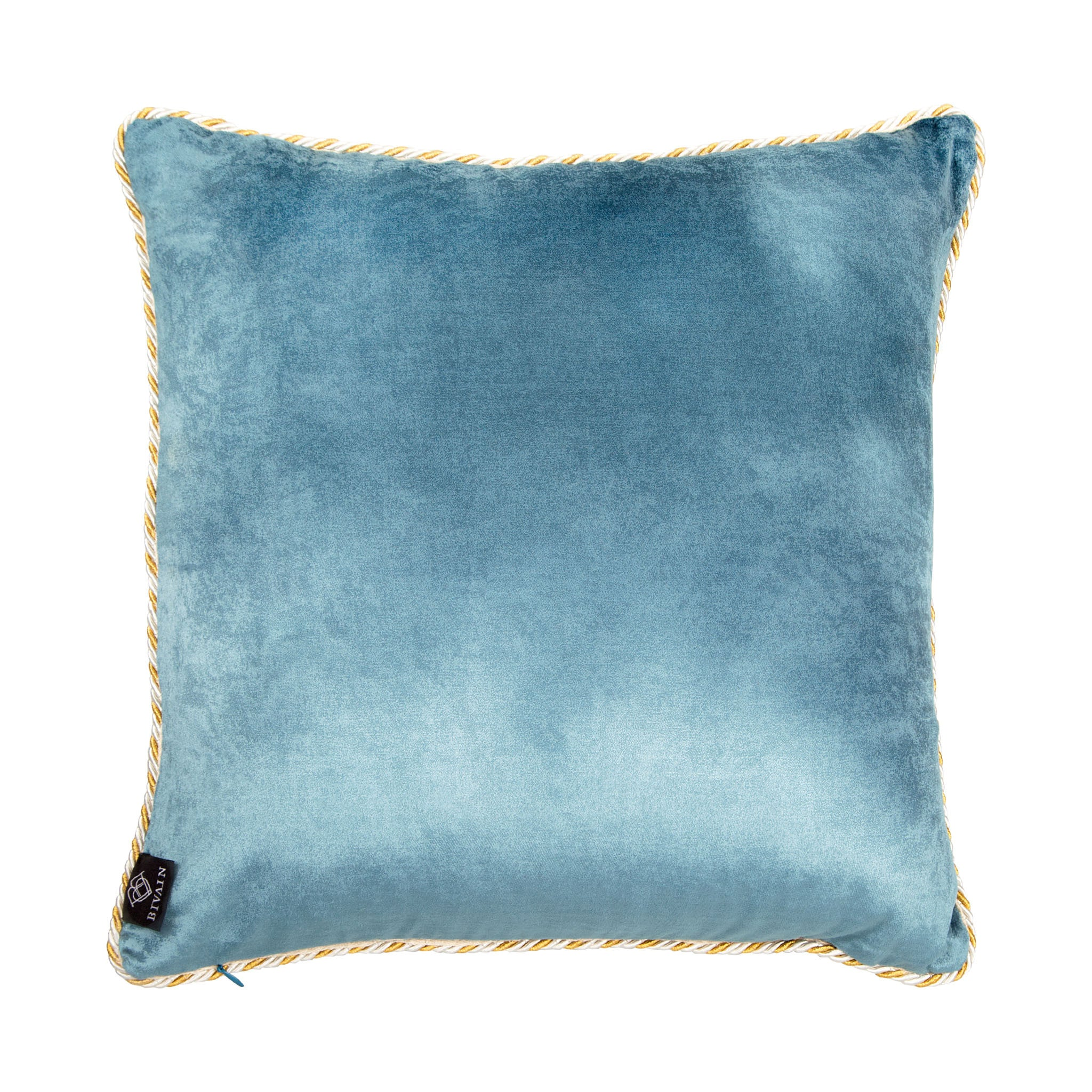 Silk twill and velvet camel print cushion - Bivain - 3