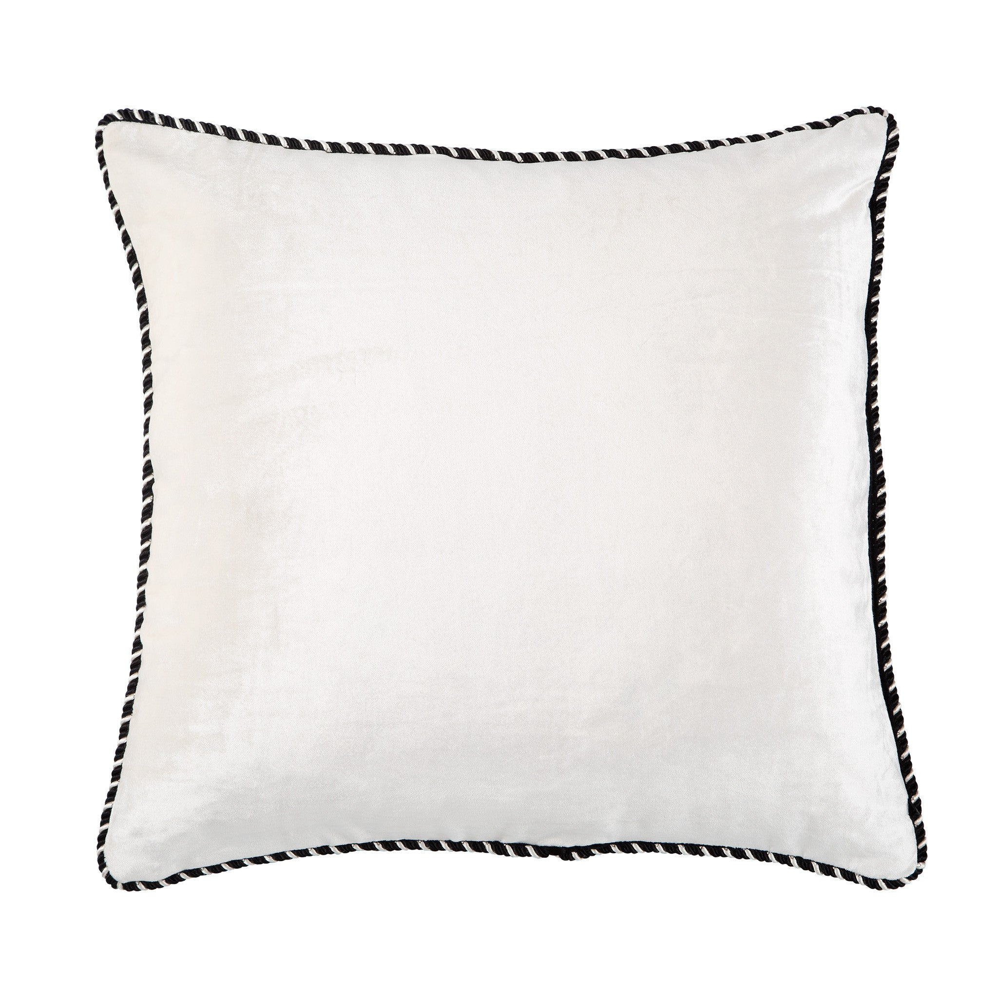 Black & White Velvet Cushion, , Bivain