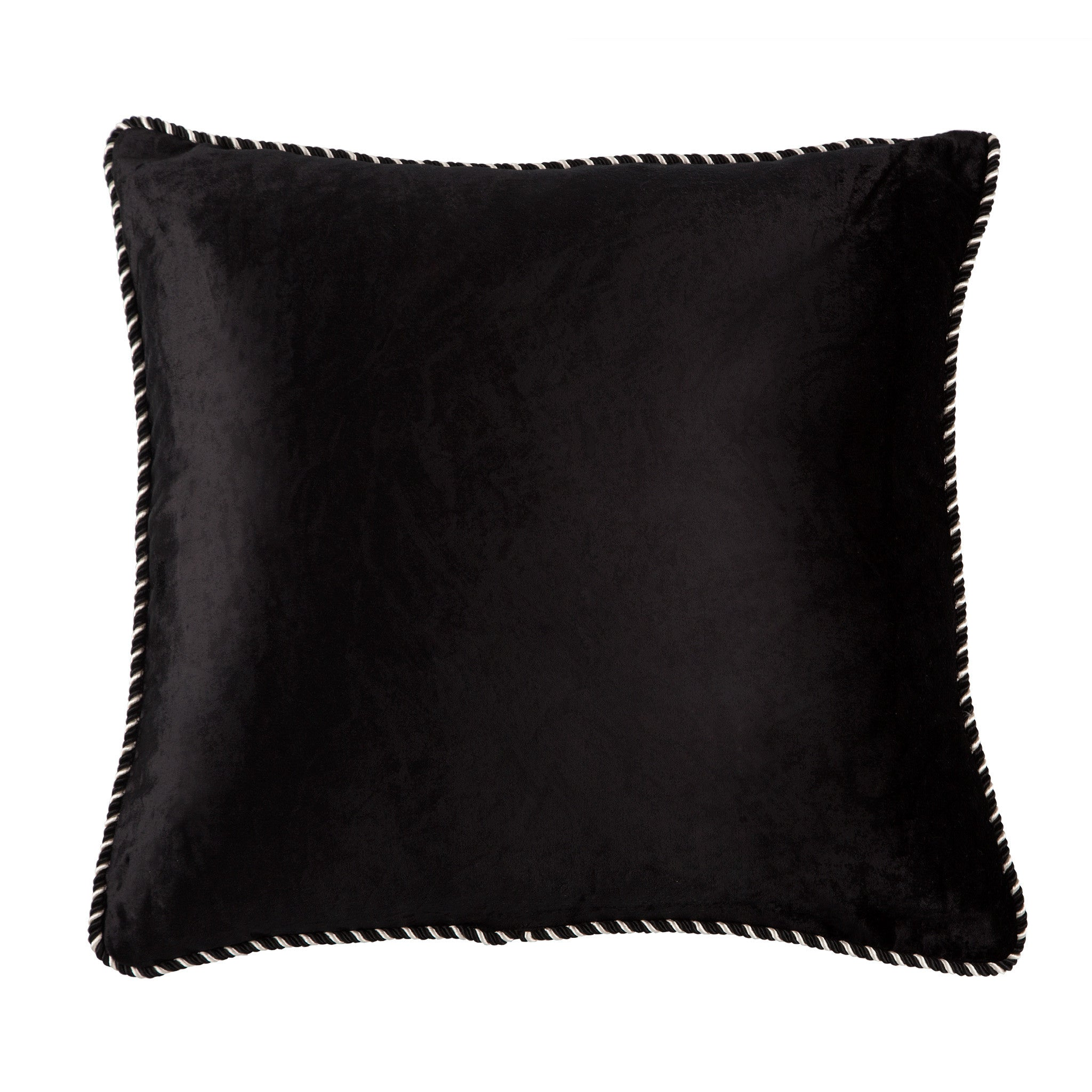 Black & White Velvet Cushion, , Cushions, Bivain Bivain
