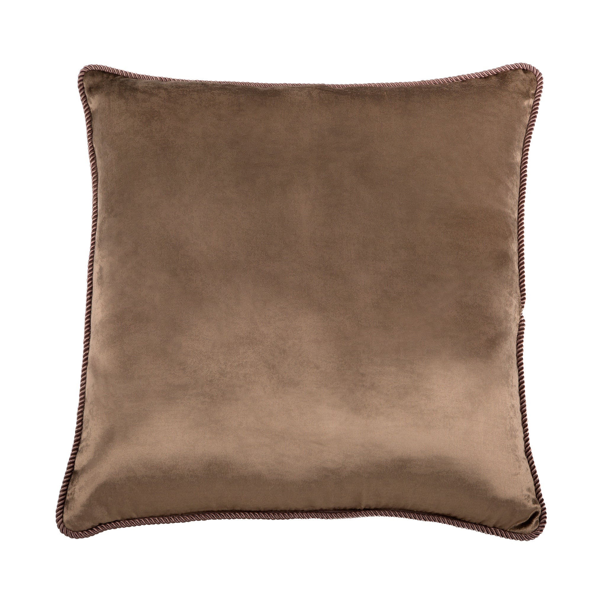 Fawn Brown Velvet Cushion, , Bivain