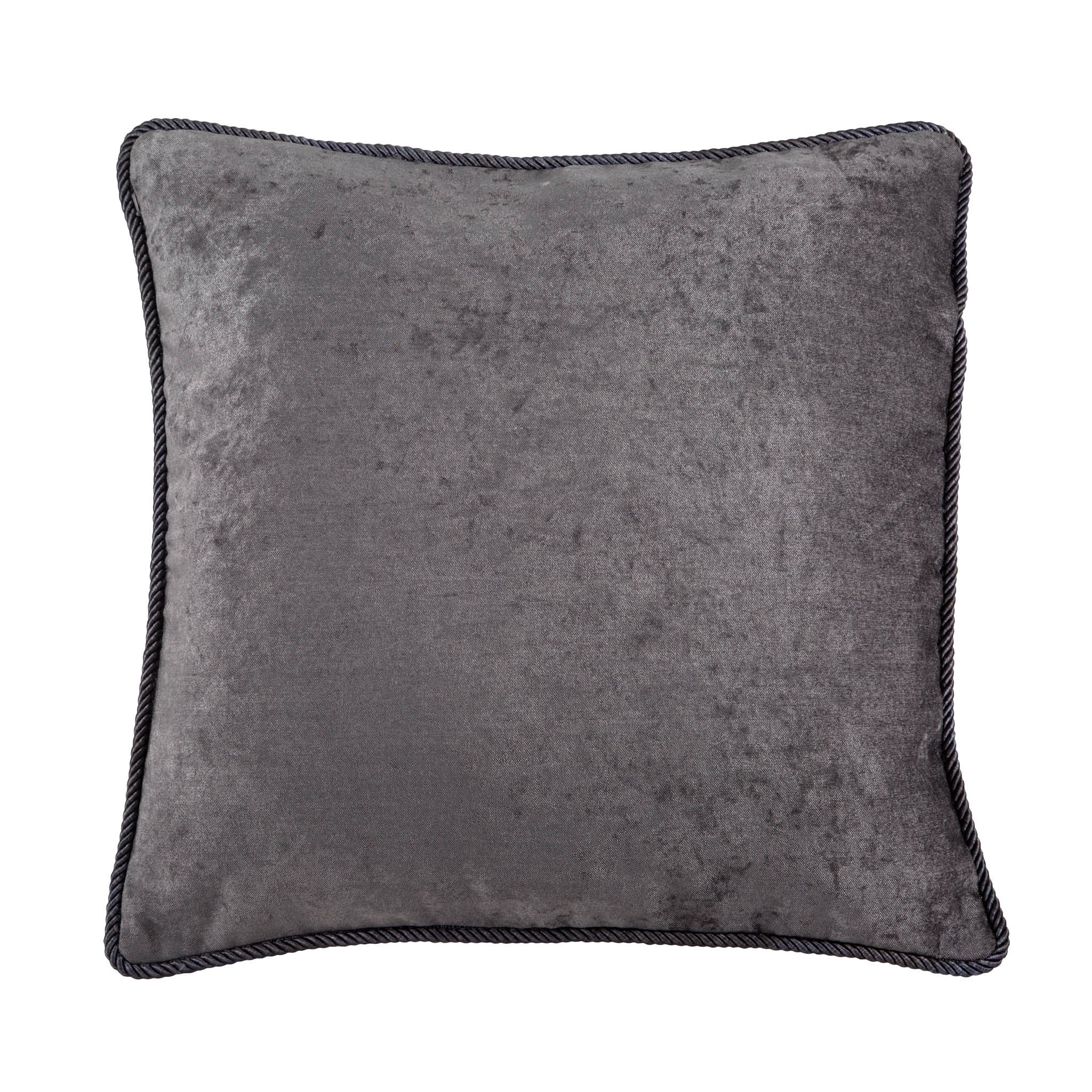 Ash Grey Velvet Cushion, , Bivain
