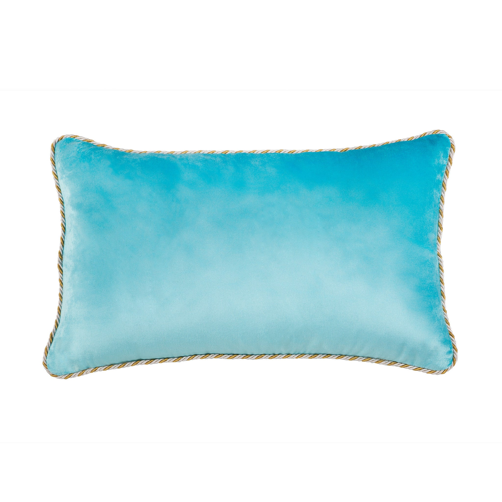 Pale Blue Velvet Cushion - Bivain - 4