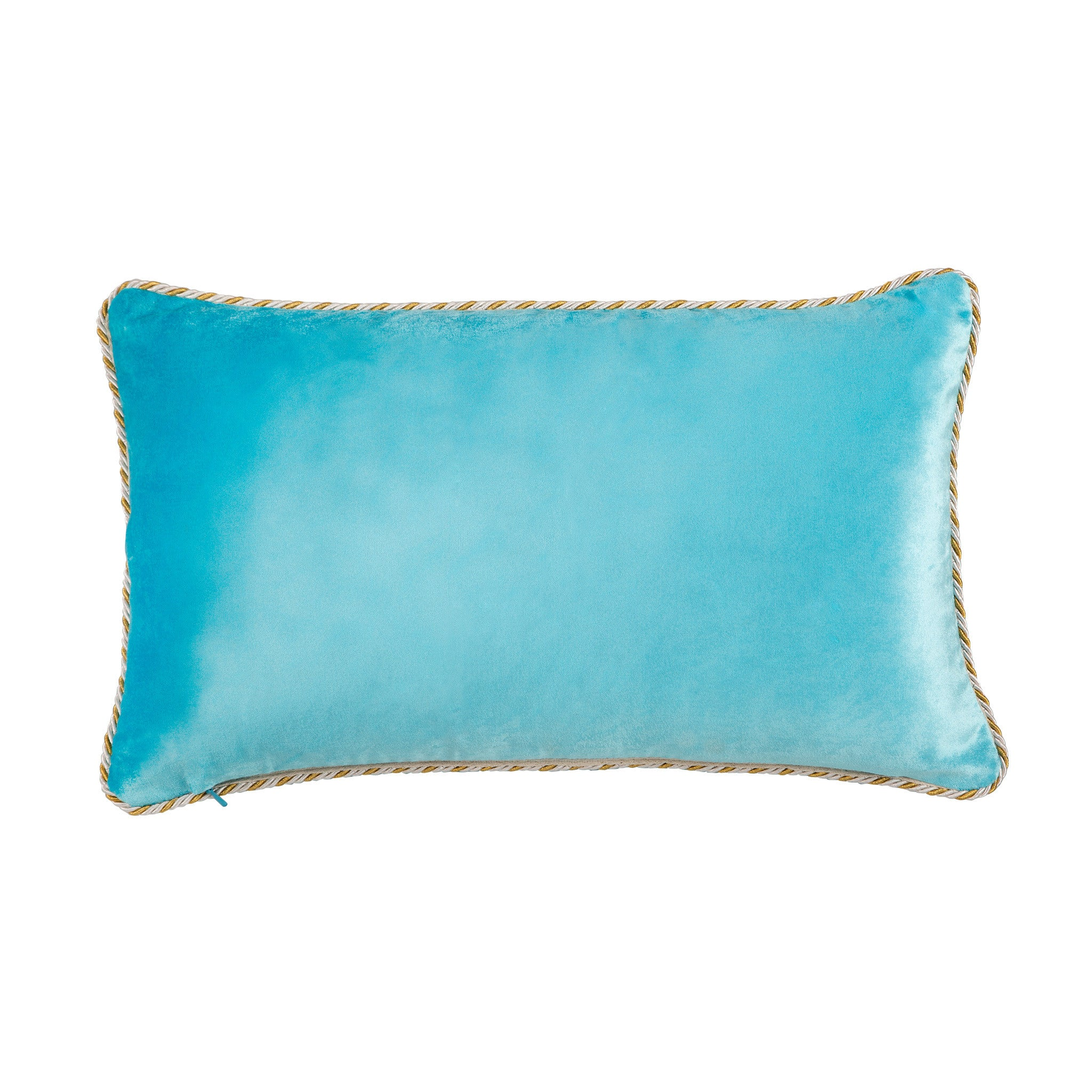 Pale Blue Velvet Cushion - Bivain - 3