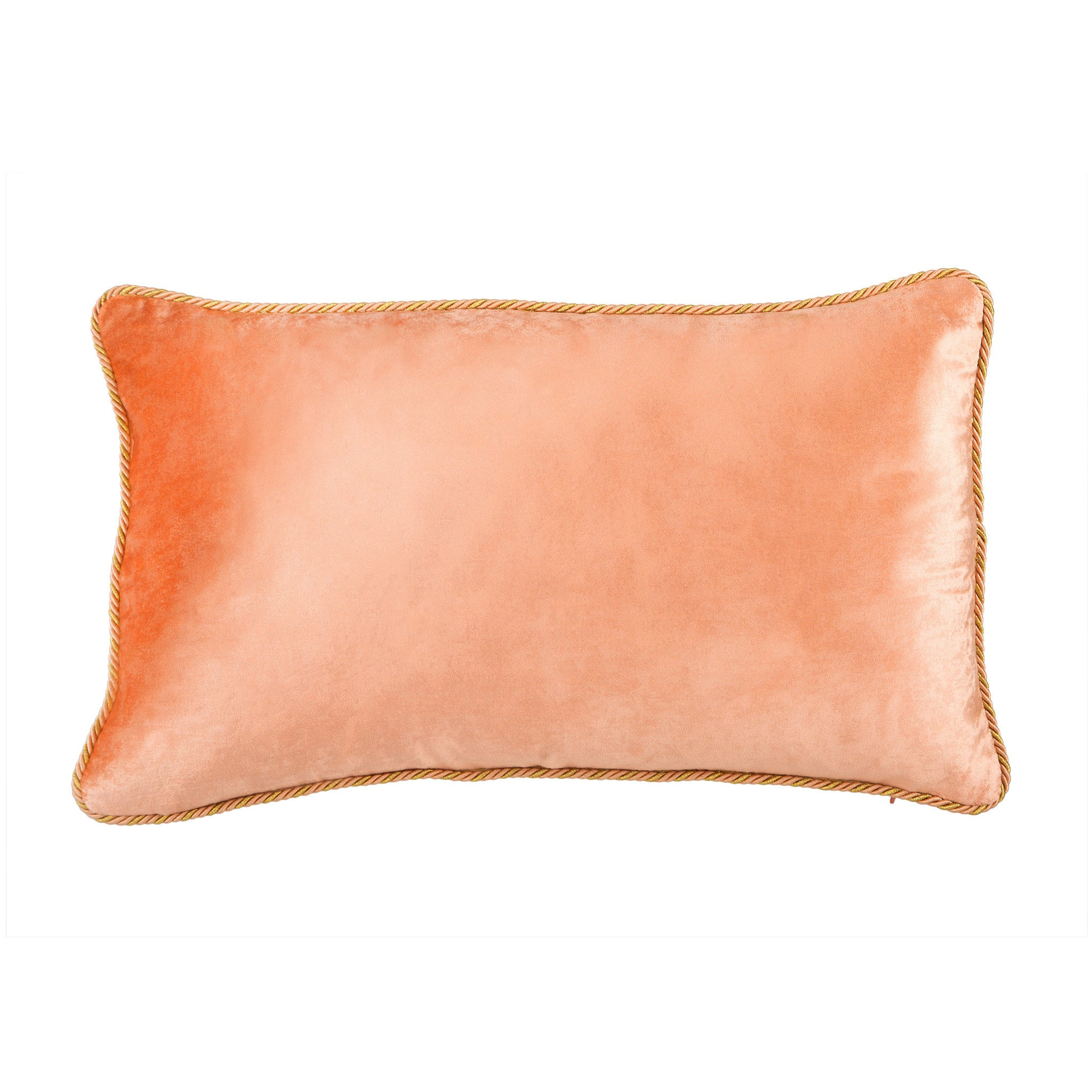 Peach Velvet Cushion - Bivain - 4