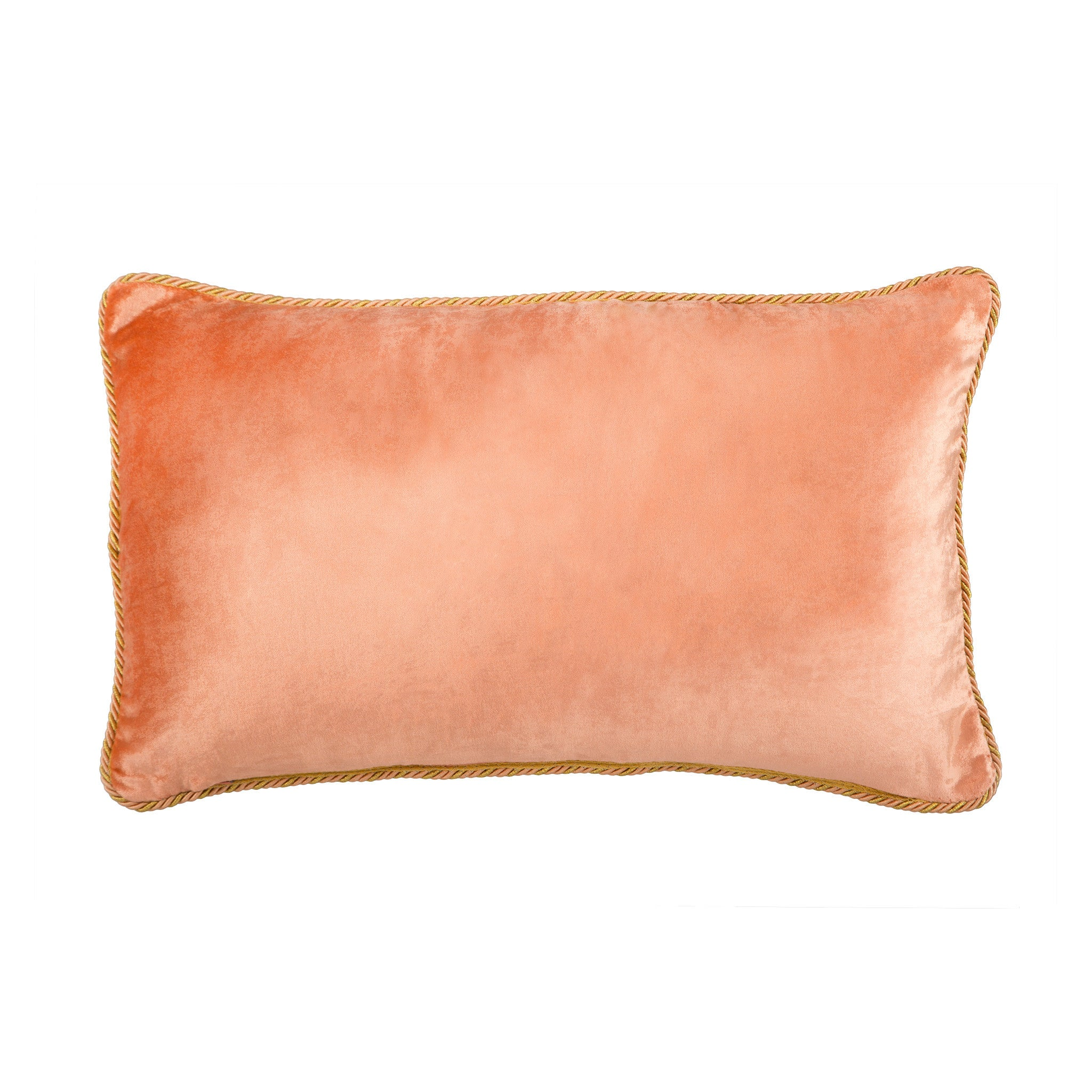 Peach Velvet Cushion - Bivain - 3