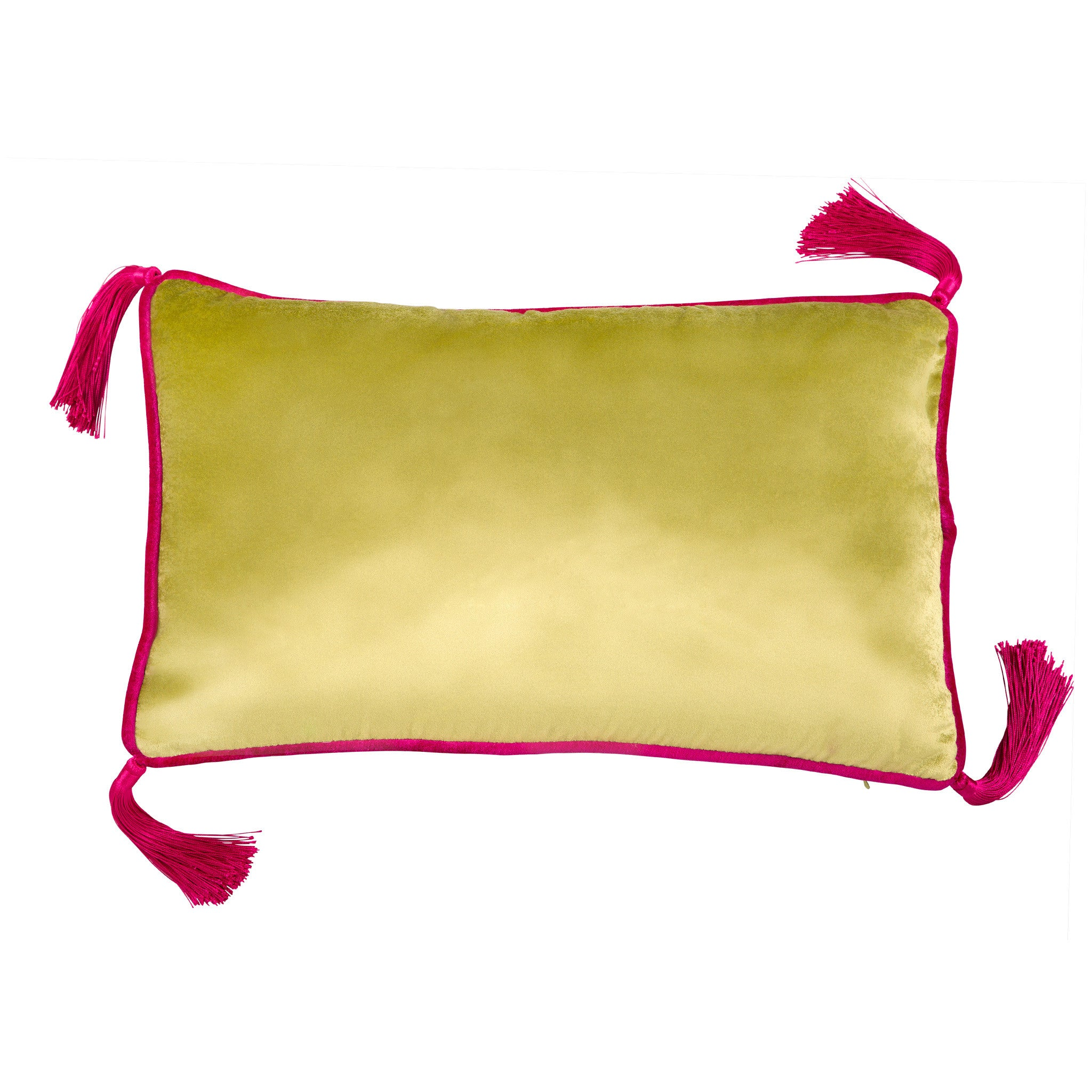 Green Velvet Cushion, , Bivain