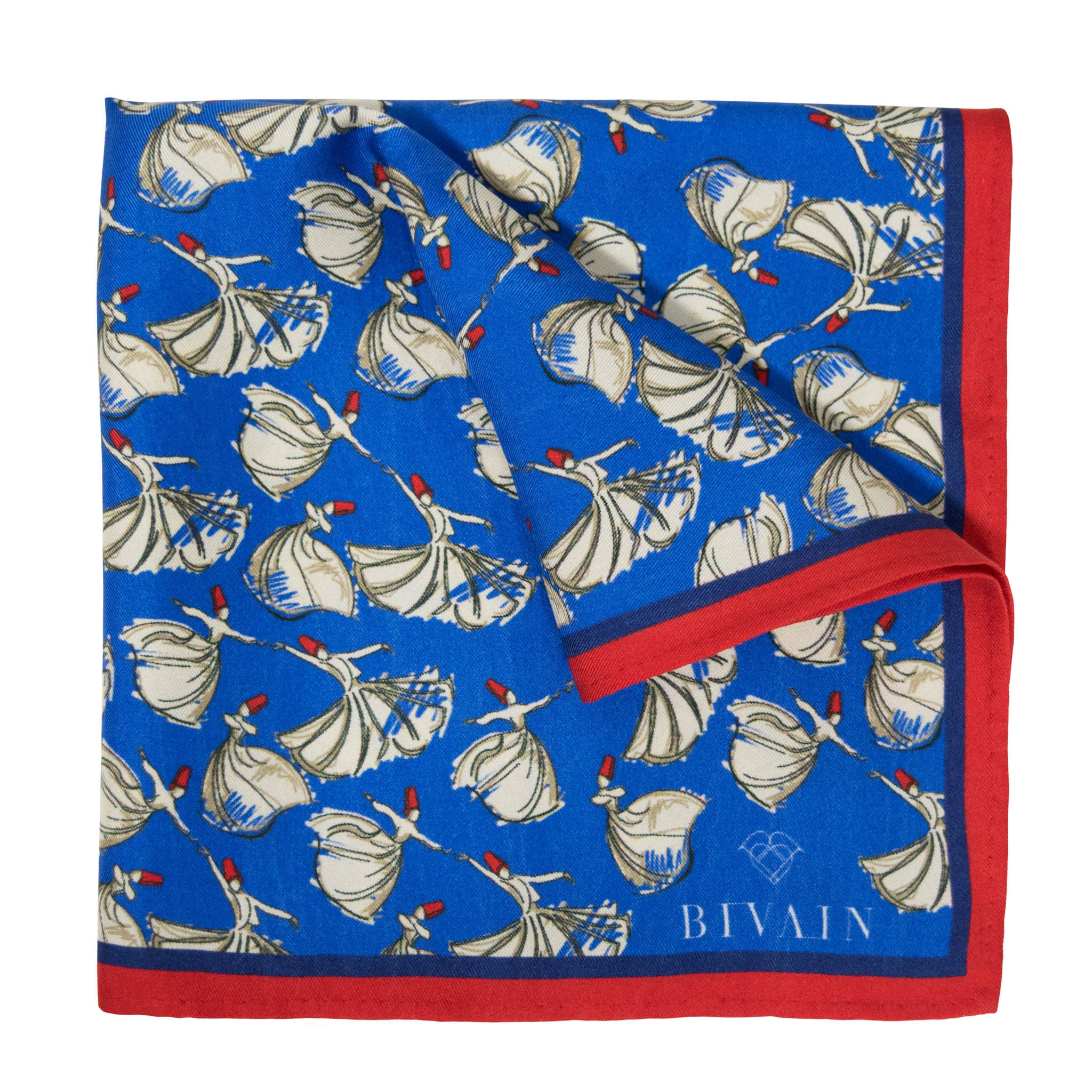 Dervish Dancers Silk Pocket Square, , Bivain