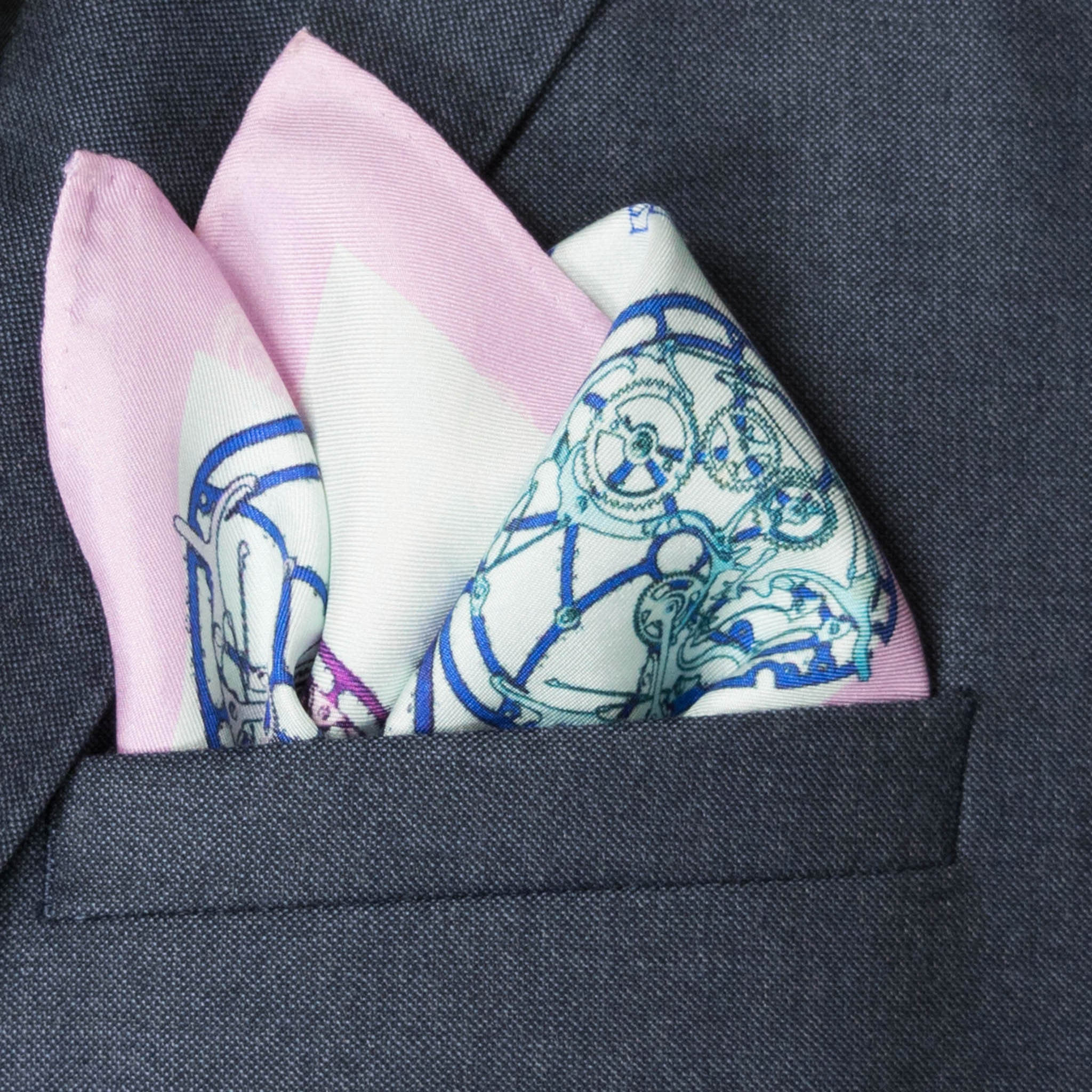Calibre Silk Pocket Square, , Bivain
