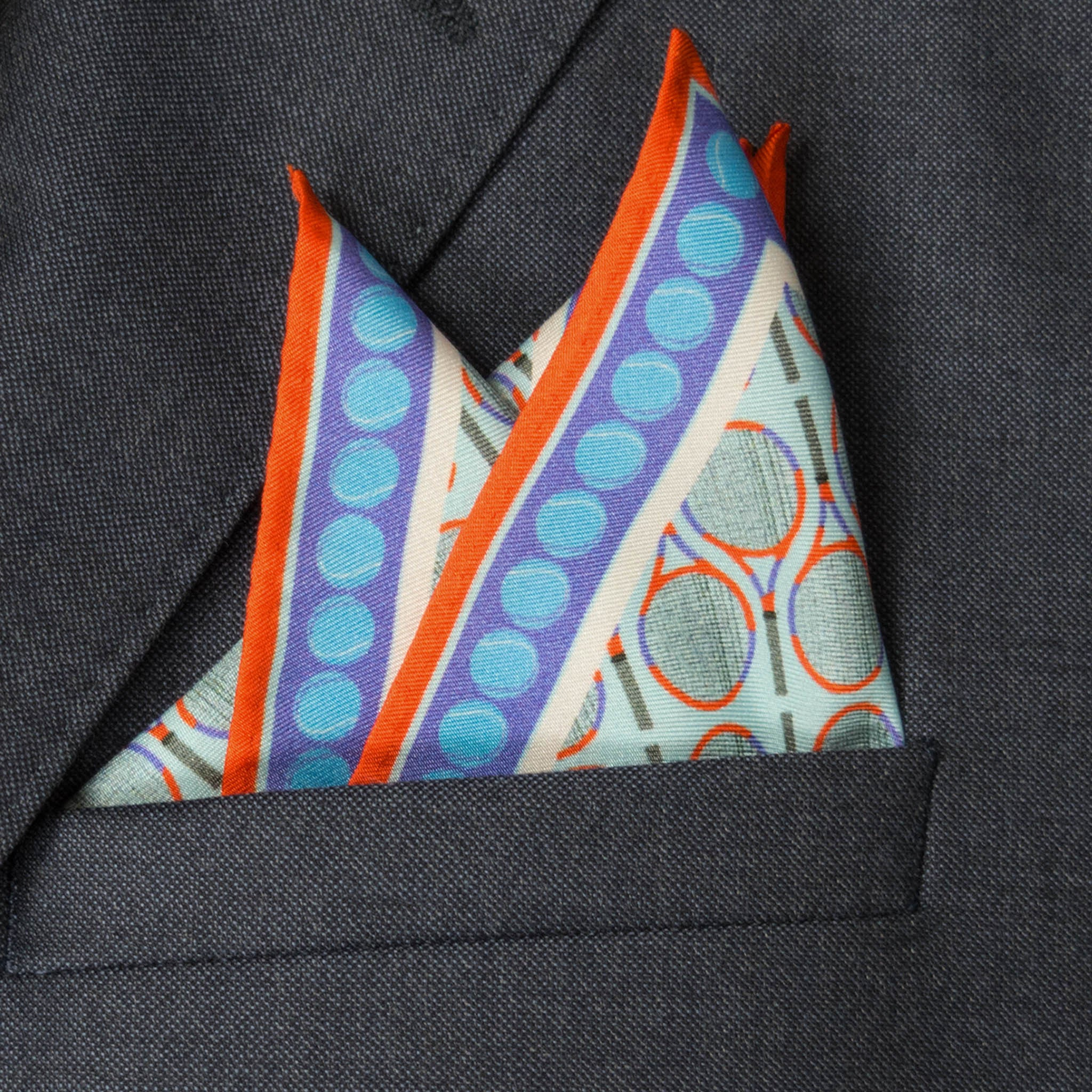 Wimbledon Silk Pocket Square, , Bivain