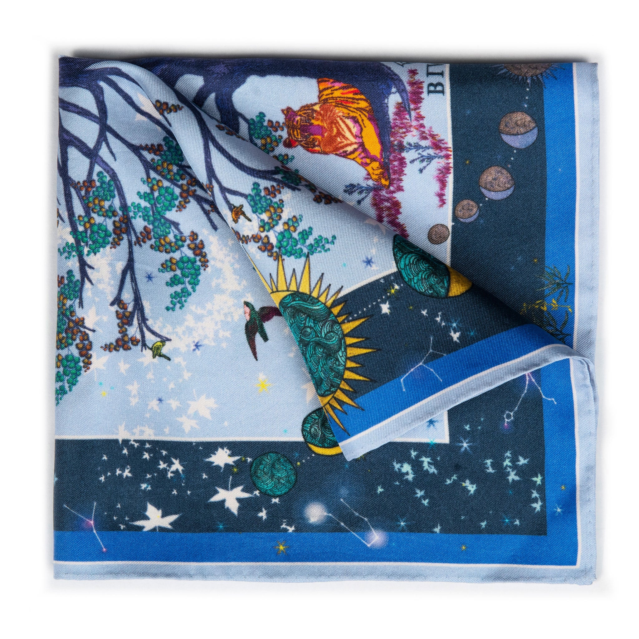 Tree of Life Silk Pocket Square