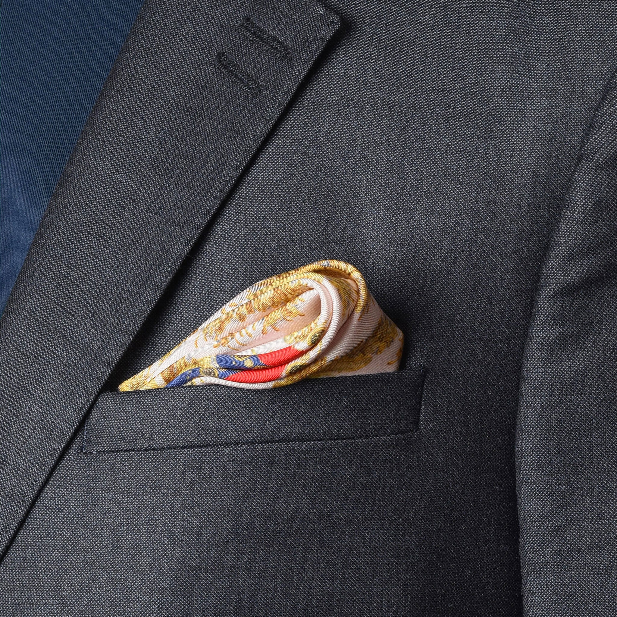 Neptunian Silk Pocket Square