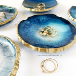 Ring Dish-Blue and Gold