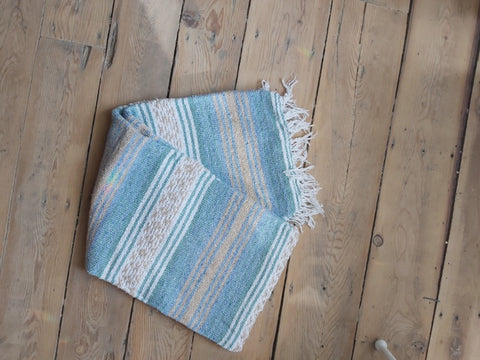 Light Blue and Tan Blanket