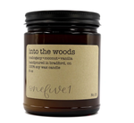 into the woods soy candle 8 oz