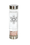 Crystal Infuser Glass Water Bottle- Rose Quartz