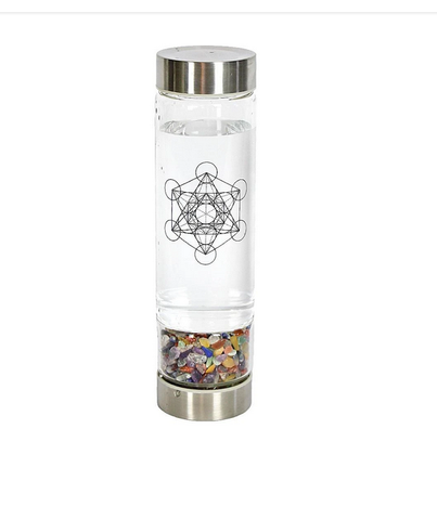 Crystal Infuser Water Bottle - Chakra Stone