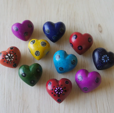 Tiny Hearts With Patterns