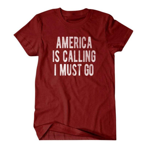 America is calling I must go-Daylyn
