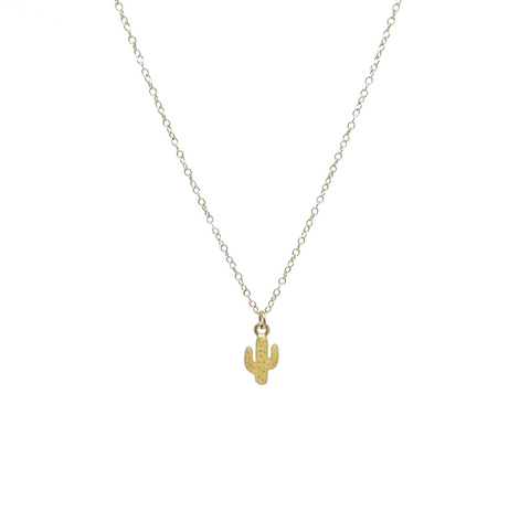 Cactus Necklace - Gold-Daylyn
