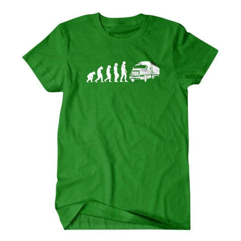Evolution T-shirt, Gift for trucker-Daylyn