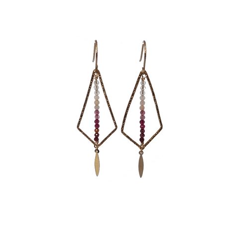 Geometric Ombre Earrings-Daylyn