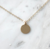 Gold Coin Necklace-Daylyn