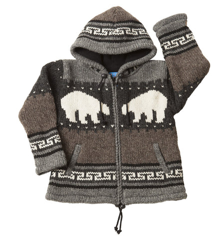 Kids Polar Bear Cardigan